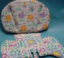 Thermoformed and RF sealed high chair cushion set